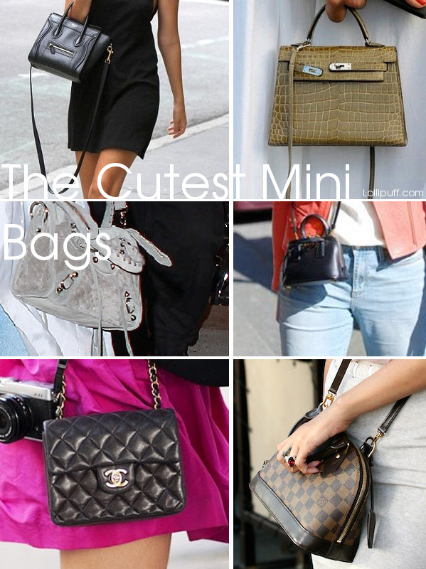 cutest designer crossbody shoulder handbags bags mini micro being worn wearing