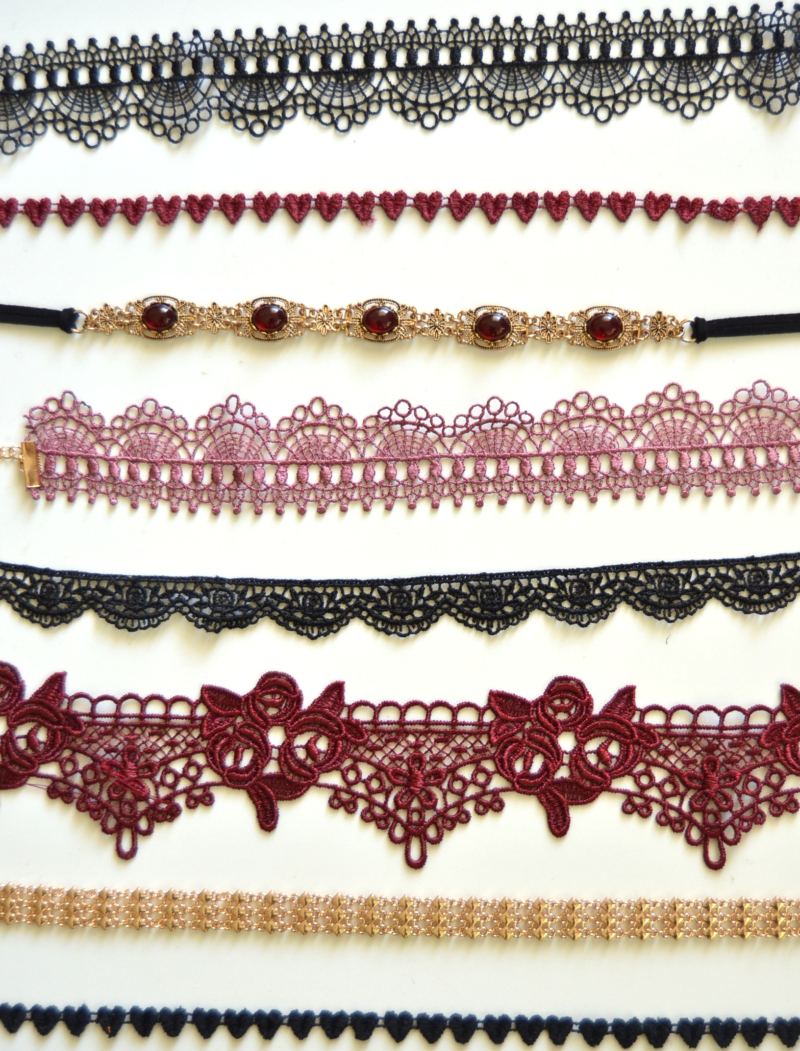 crochet lace chokers