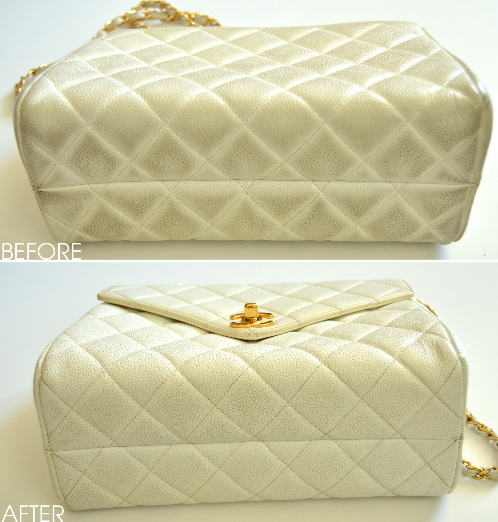 How to remove stains from chanel caviar leather lollipuff How to get stains out of white leather