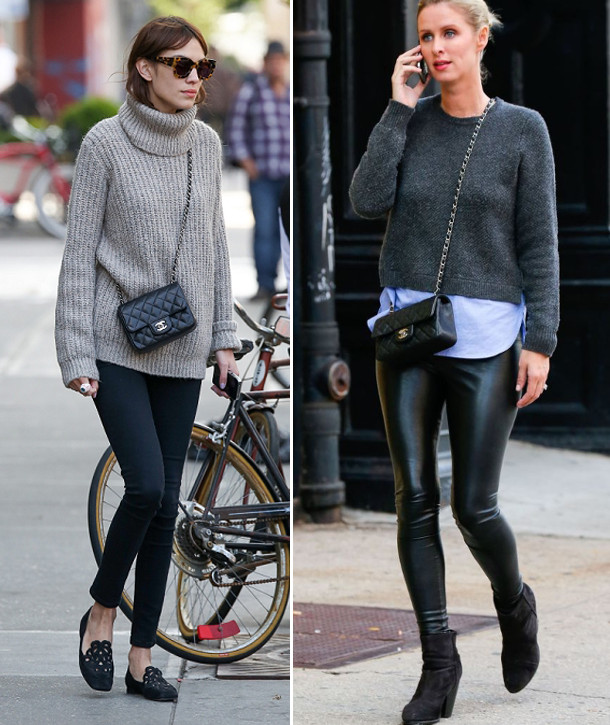 celebrities wearing chanel classic mini shoulder crossbody bag