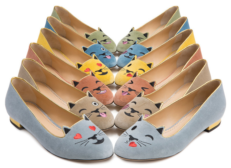 charlotte olympia emoticat kitty shoes