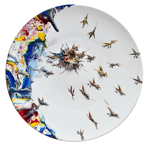 beautiful plates that look like art painting modern