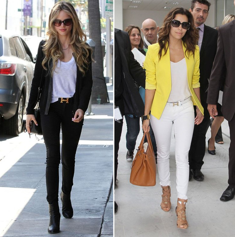 celebs celebrities wearing Hermes H Constance signature classic belt