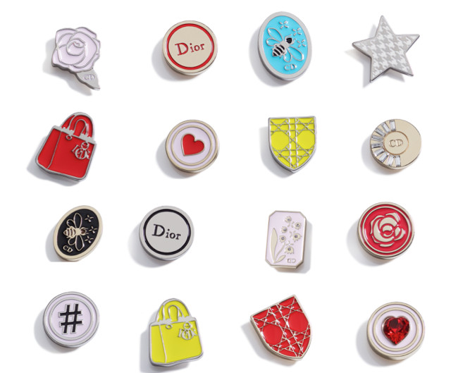 Christian Dior pins charms