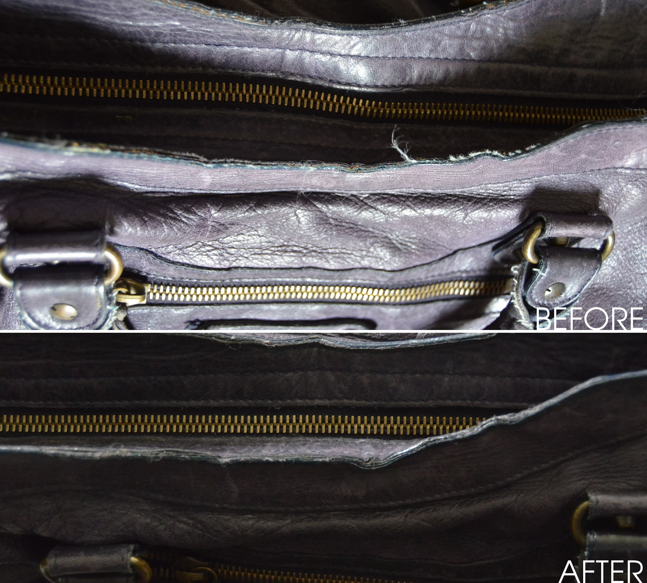 repairing bag edges