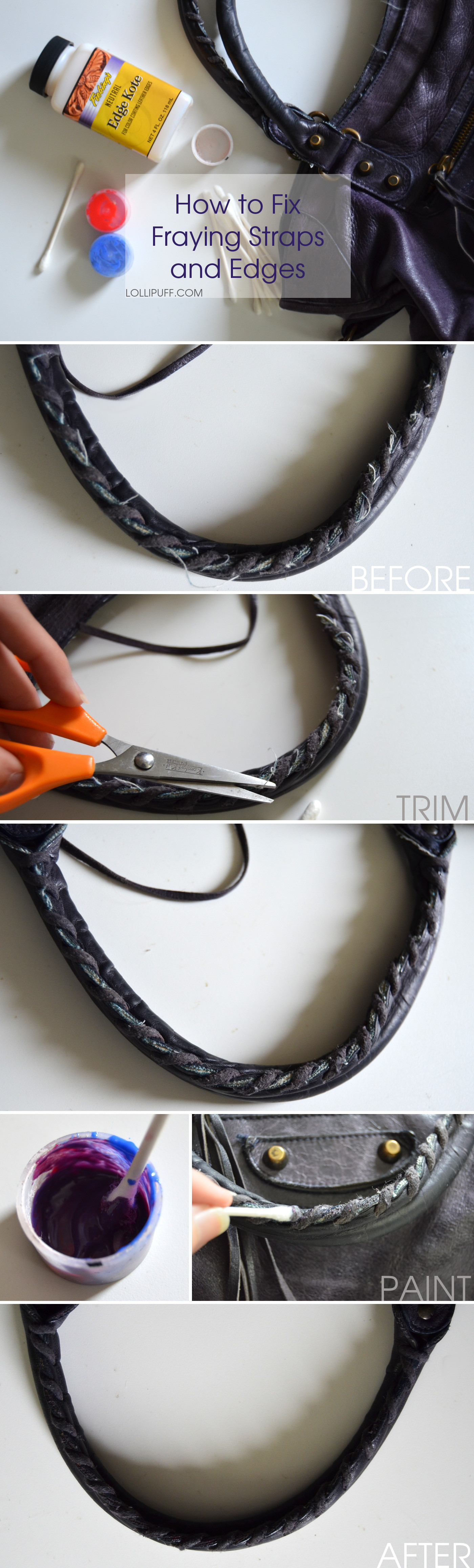 how to fix well worn handbag purse handles straps