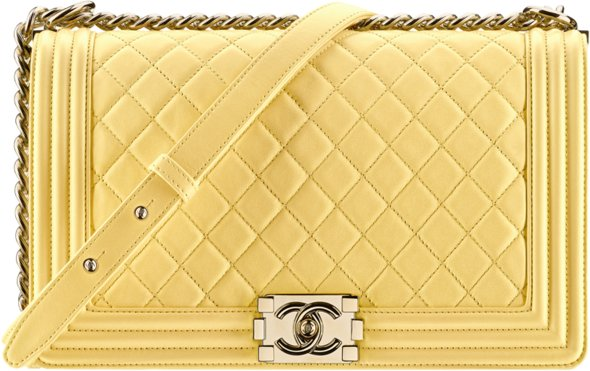 0d50f64b8a9d56 Chanel 2017 handbag bag collection season spring summer pre-collection  price size. 61. Yellow lambskin boy ...