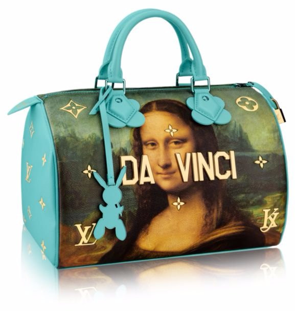 Louis Vuitton Jeff Koons masterpiece painting collaboration 2017 art handbag bag scarf key chain collection