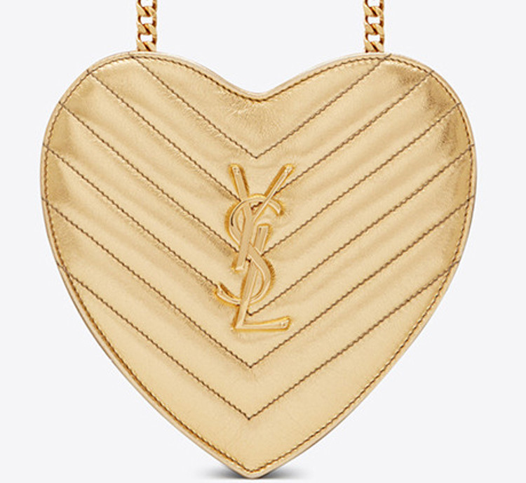YSL gold heart small handbag crossbody