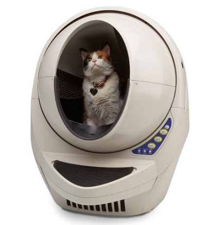 automatic electronic cat litter box self-cleaning