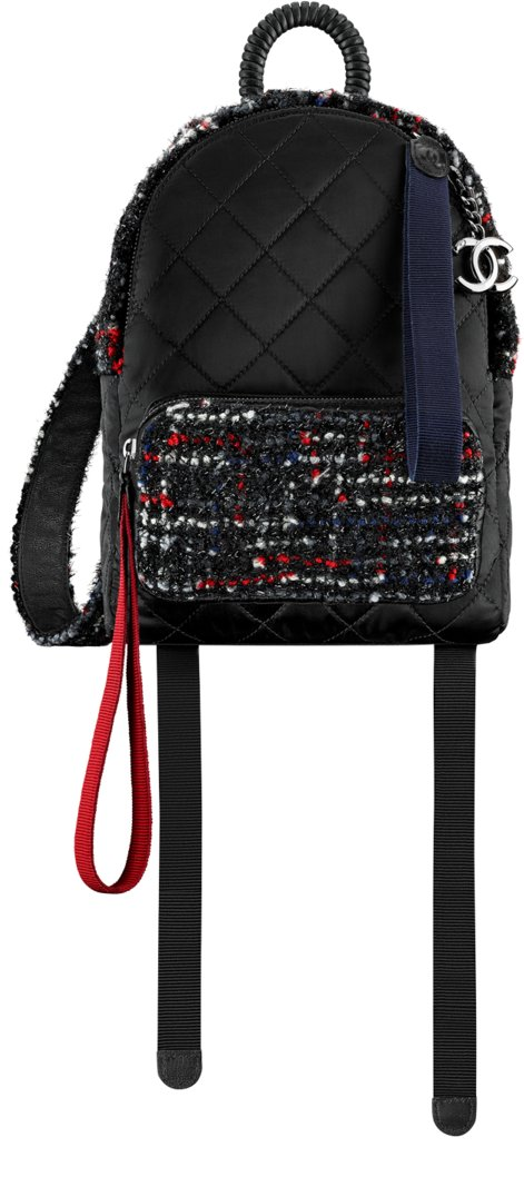 b8b4a1f18a06c5 Chanel Fall Winter 2017 2018 collection season handbag bag. 27. Tweed and  nylon ...