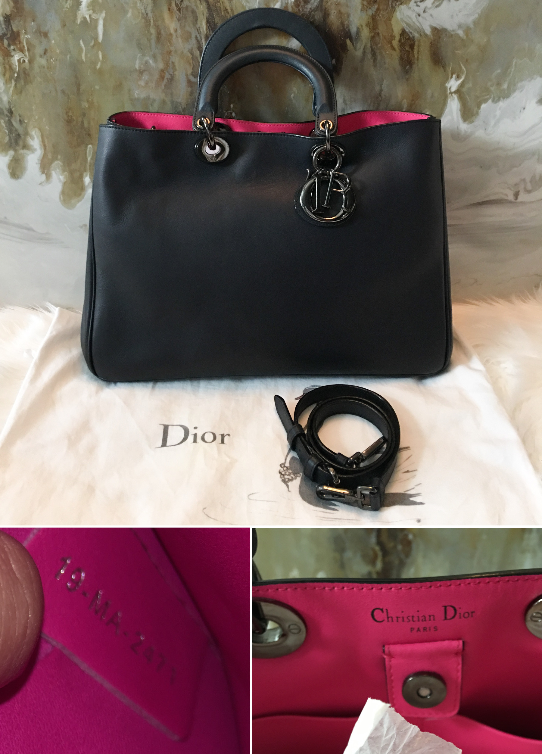 Authentication Quiz and Shocking Information Lollipuff Christian Dior  Diorissimo Bag Source · Dior bag Diorissimo smooth leather two tone silver  metalwork ... 9025382353