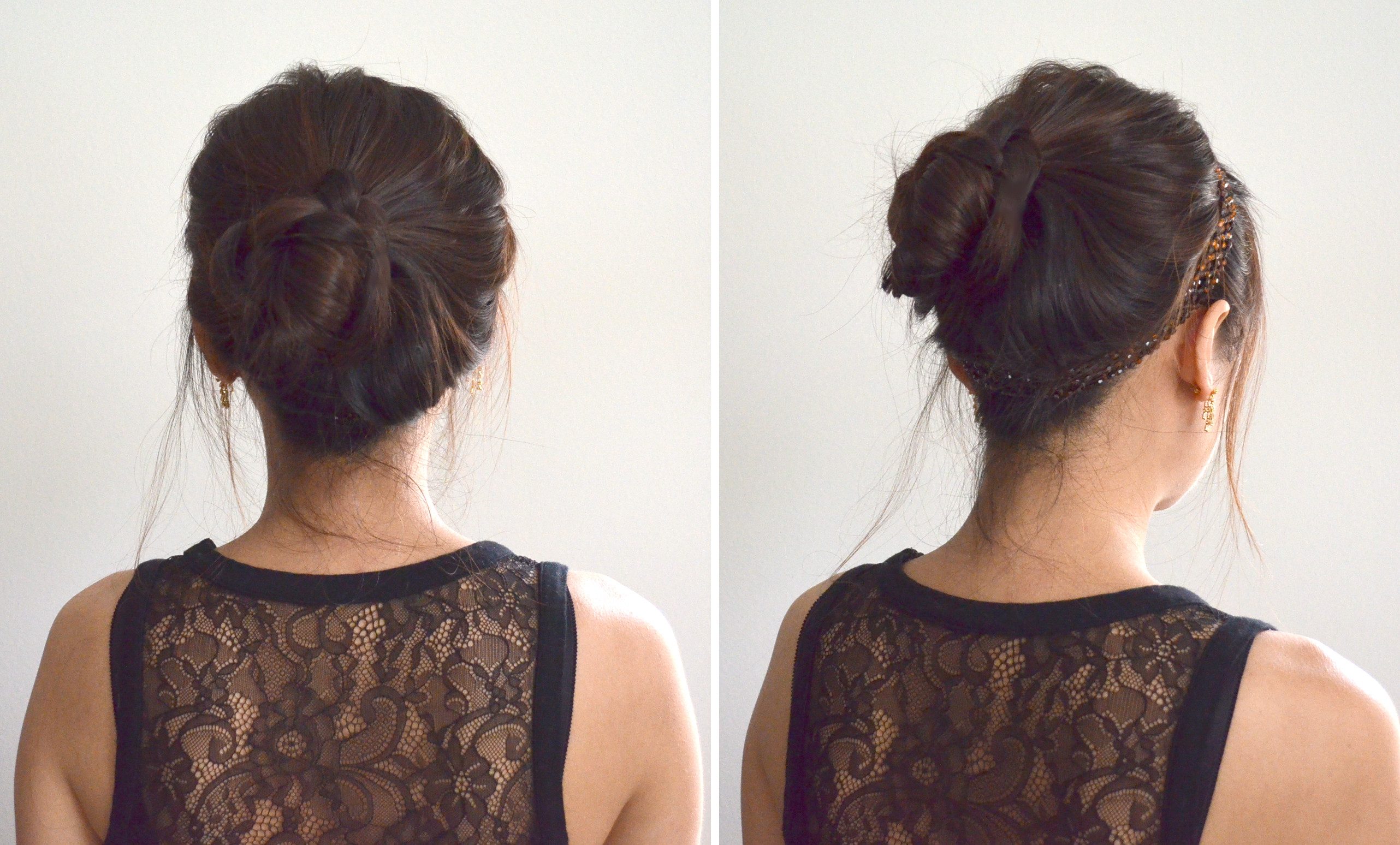 fancy girly sweet ballerina bun updo hairstyle