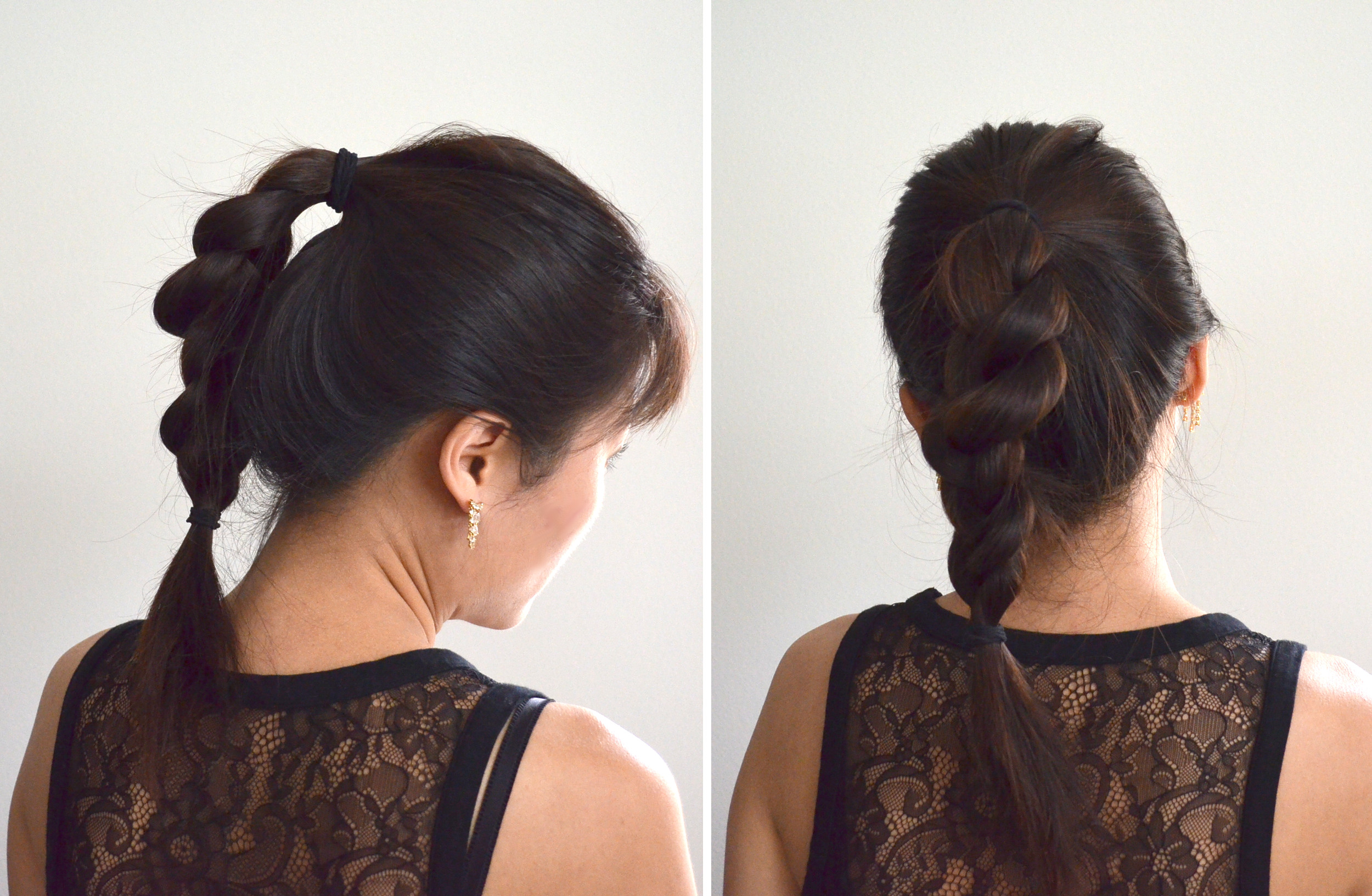 easy fancy ponytail for long hair