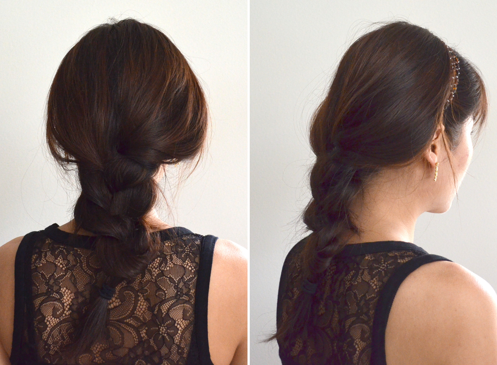 soft braid look with hair wrap band