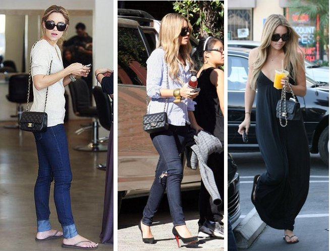 5829e7f8a3bb Lauren Conrad of the hills wearing Chanel mini classic bag
