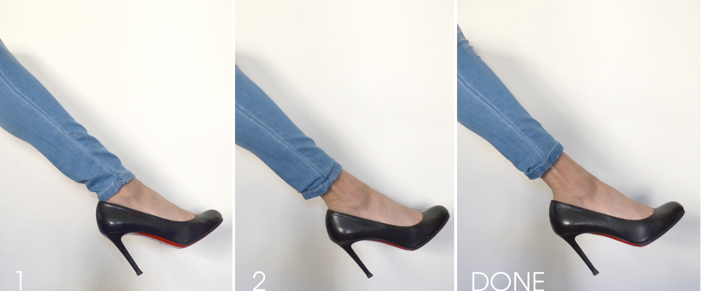 how to shorten jeans that are too long
