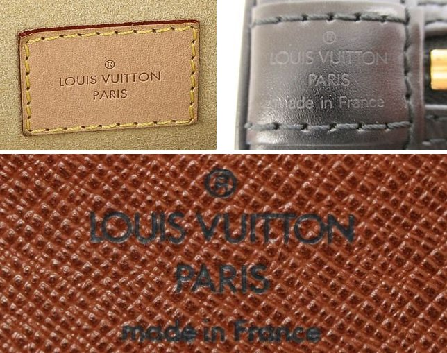 how to authenticate Louis Vuitton stamping on handbag bag