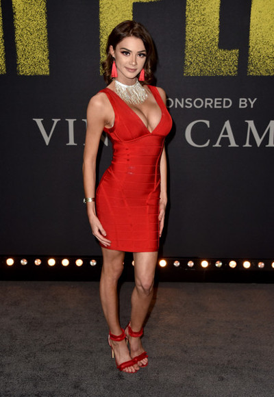 2018 Herve Leger dress celeb celebrity wearing
