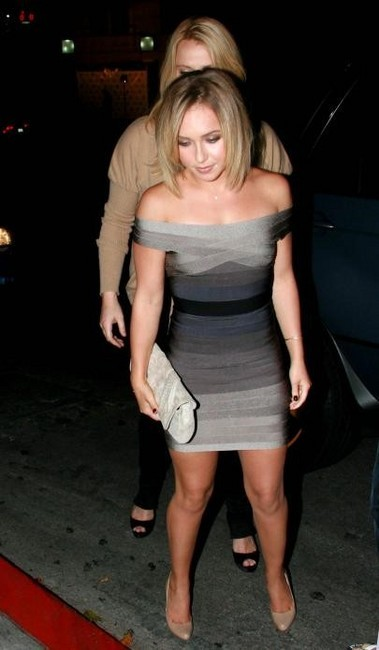 Hayden Panettiere in tight dress