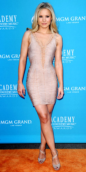 Kristen Bell bandage bodycon dress