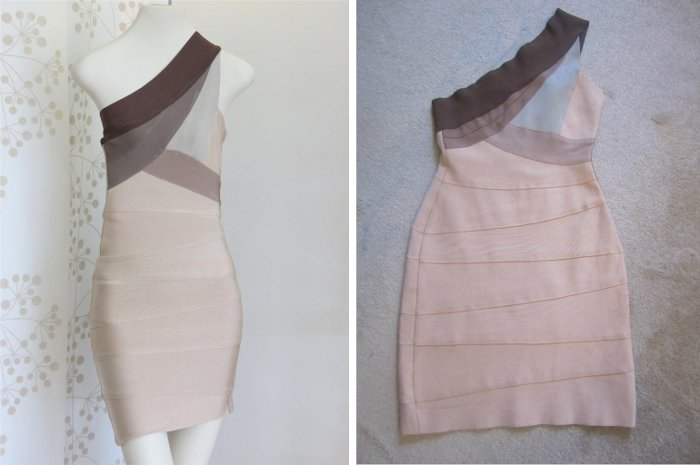 fake Herve Leger dress vs real authentic