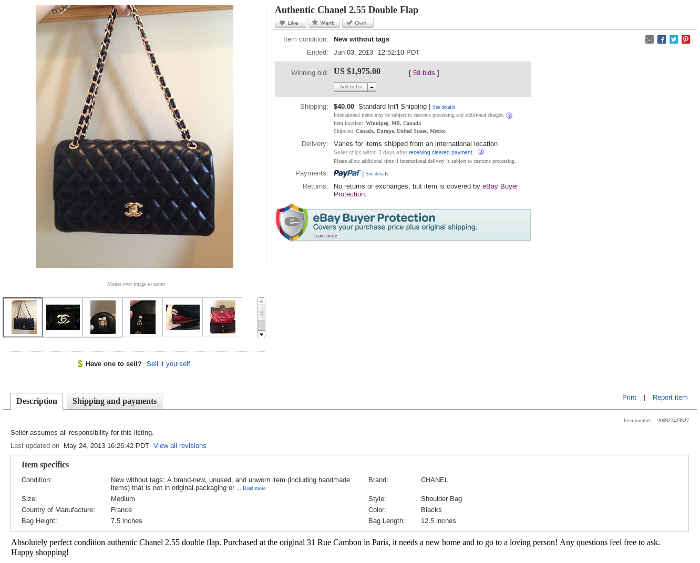counterfeit designer items on eBay
