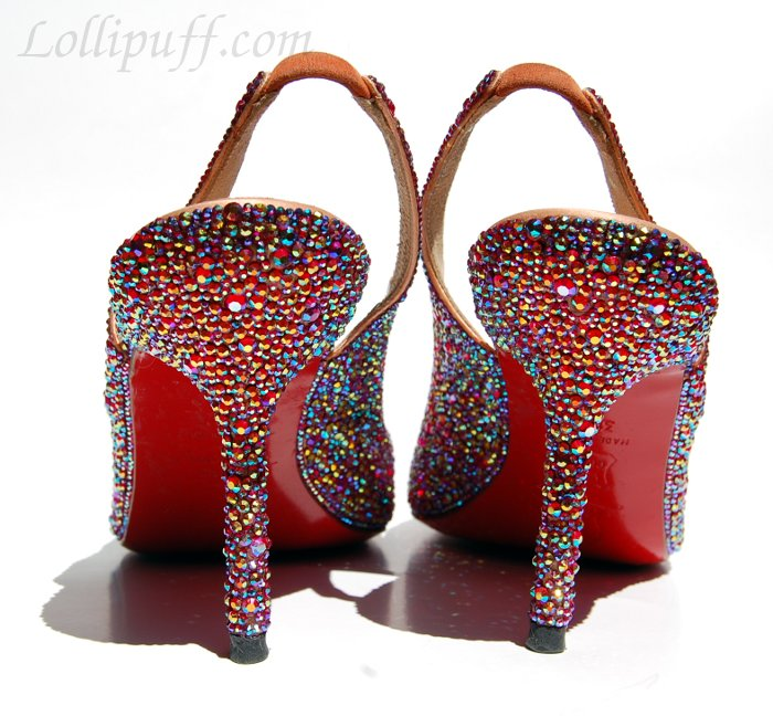 back of strassed Christian Louboutin heels