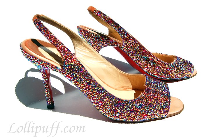 beautiful sparkly shoes covered in gems jewels