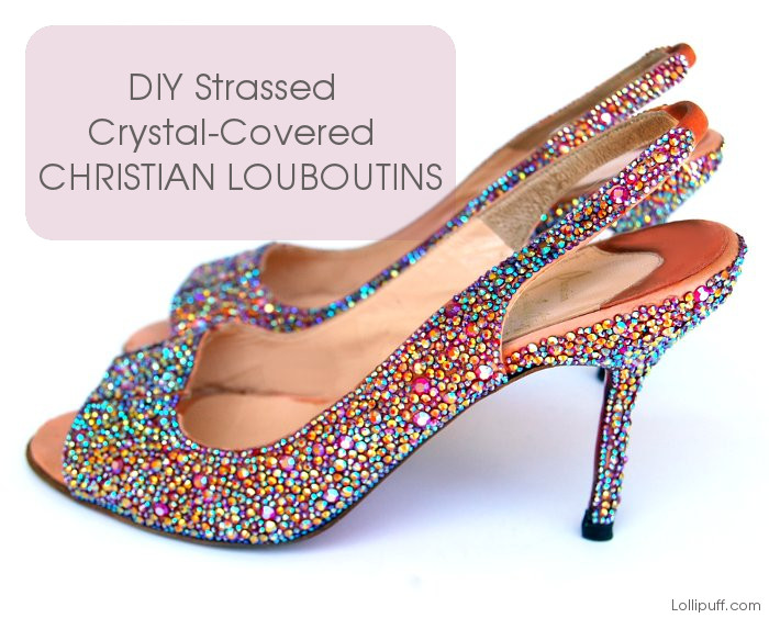 christian louboutin shoes strassing crystal covering project