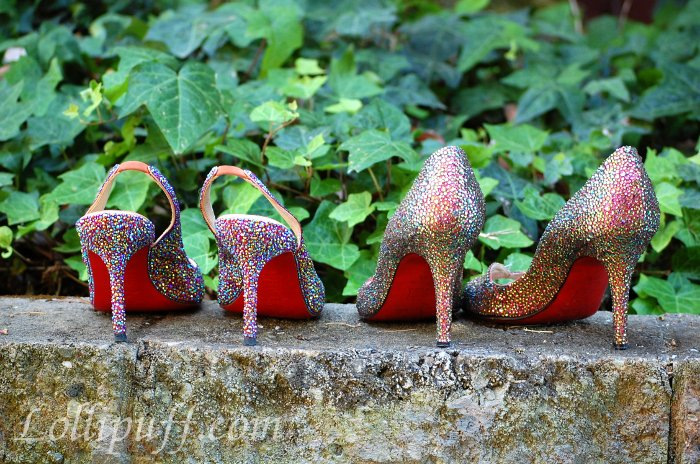Strassed Christian Louboutin shoe collection