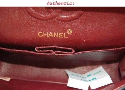inside 2.55 double flap classic Chanel bag
