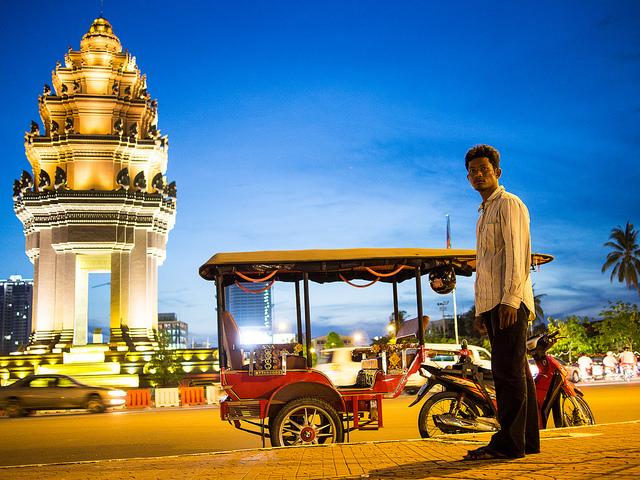 Tuk Tuk driver in Phnom Pehn