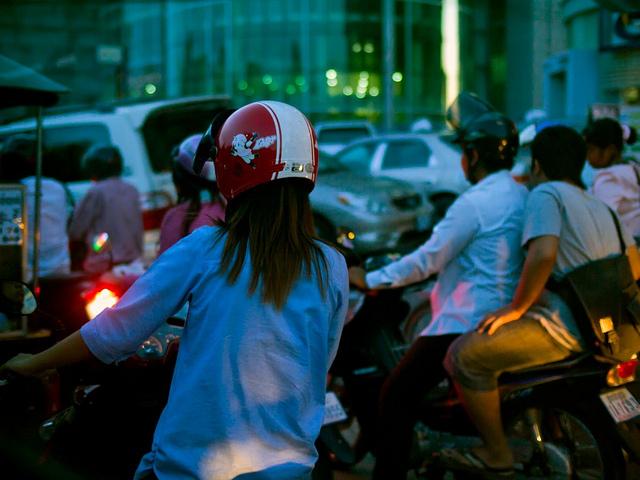 Motorbikes in Cambodia
