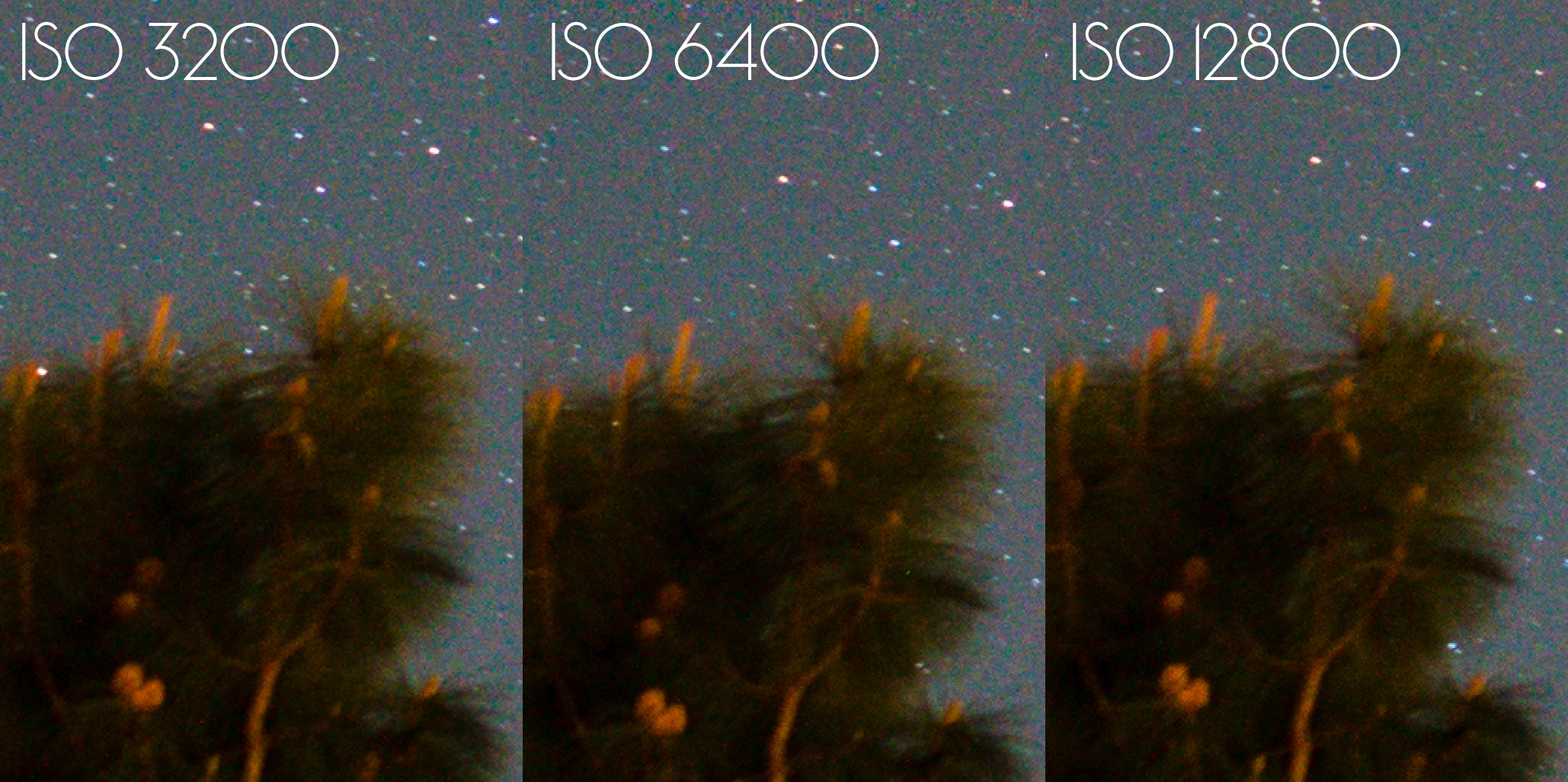 Astrophotography ISO Noise Comparison Test