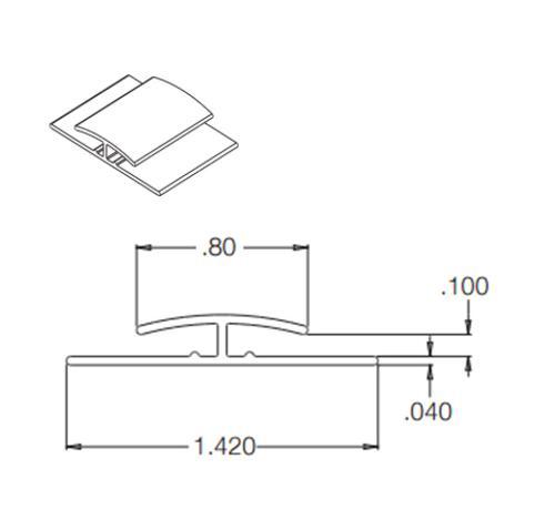10 ft Crane Composites Kemlite FRP Division Bar - White