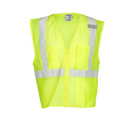 Kishigo 3 Pocket Zipper Mesh Vest / Lime - Large