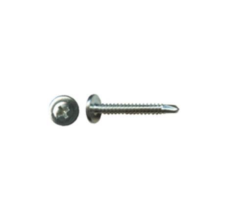3 in x #8 Pro-Twist #2 Phillips Modified Truss Head Zinc Plated Self Drilling Screw