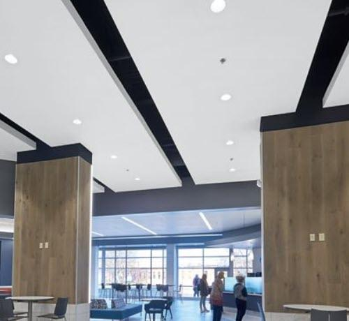 7/8 in x 4 ft x 6 ft Armstrong ACOUSTIBuilt Seamless Acoustical Ceiling System Tapered Edge Panel / White - 2604