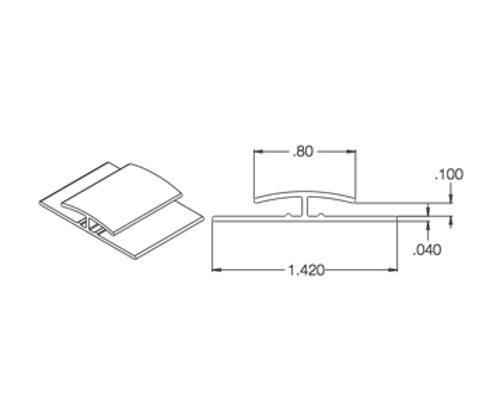 10 ft Crane Composites Sequentia FRP Division Bar - Beige