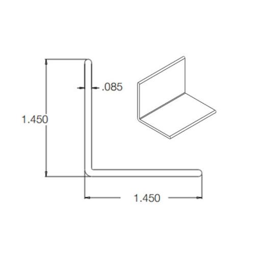 1 1/2 in x 10 ft Crane Composites Kemlite FRP Outside Angle - White