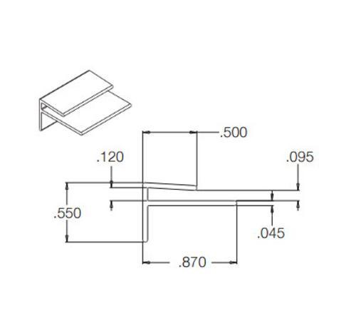 10 ft Crane Composites Kemlite FRP Outside Corner - White