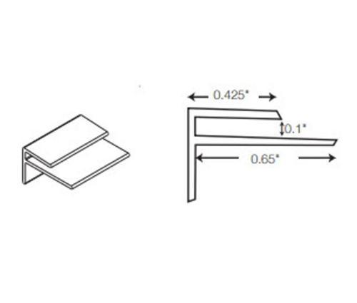 10 ft Crane Composites Sequentia FRP Outside Corner - Pearl Gray