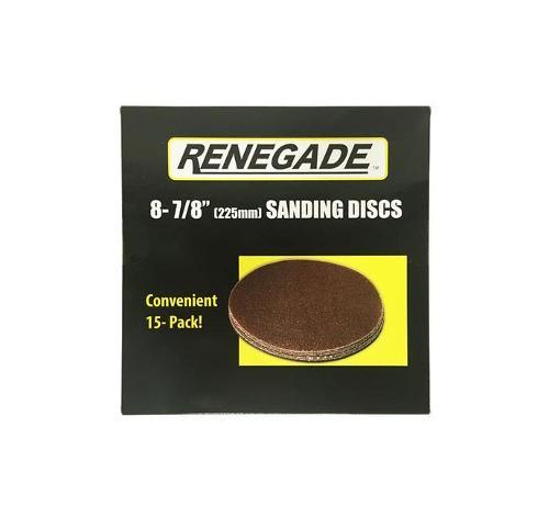 8 7/8 in Renegade Tools Sanding Disc / 120 Grit - 15 Pack