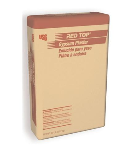 USG Red Top Brand Gypsum Plaster - 50 lb