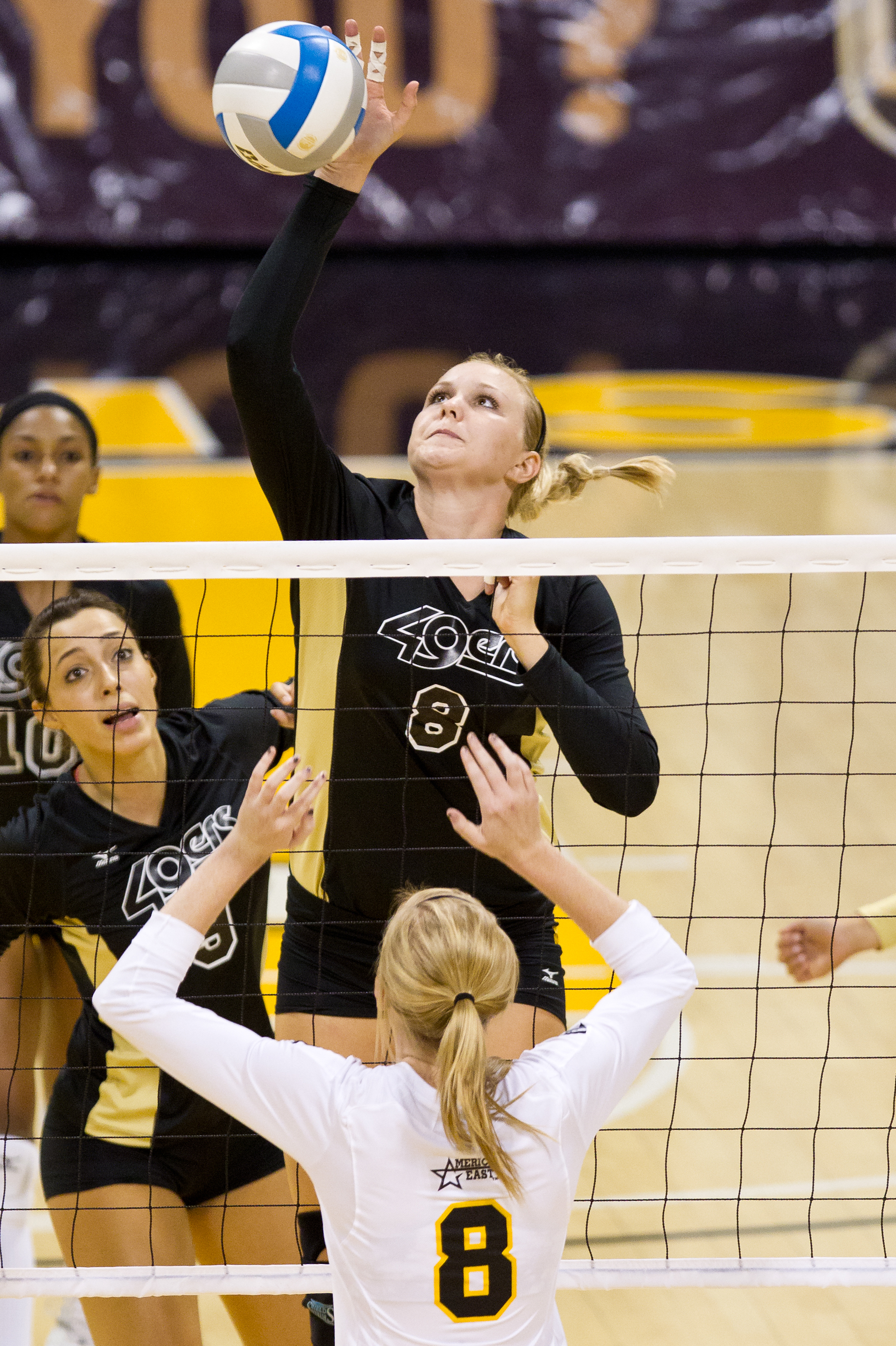 aa33b4e3a Haleigh Hampton had 11 kills on .364 hitting with six blocks.