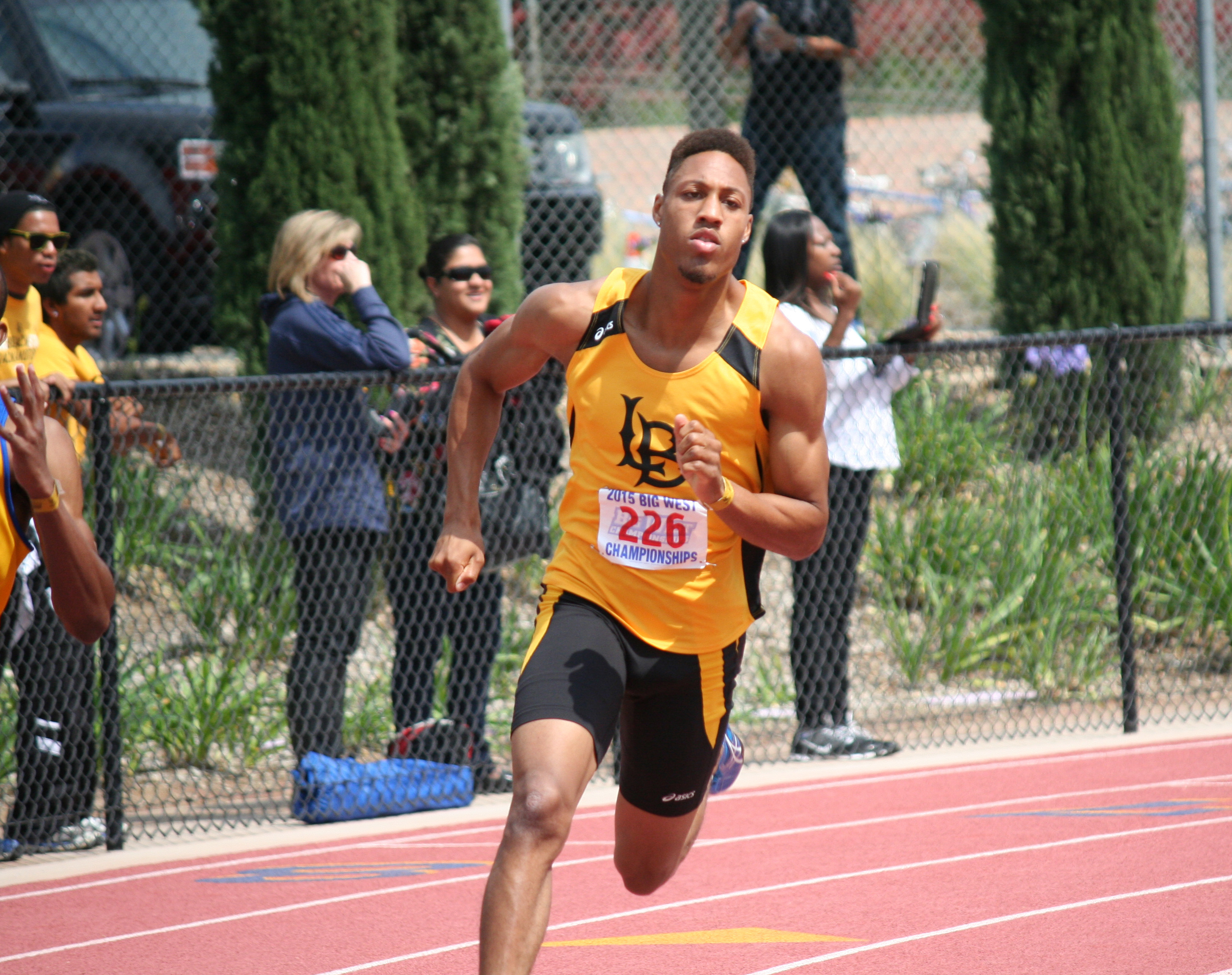Senior Cameron Glasgow earned All-Big West honors in the 200m, 400m, 4x100 and 4x400.