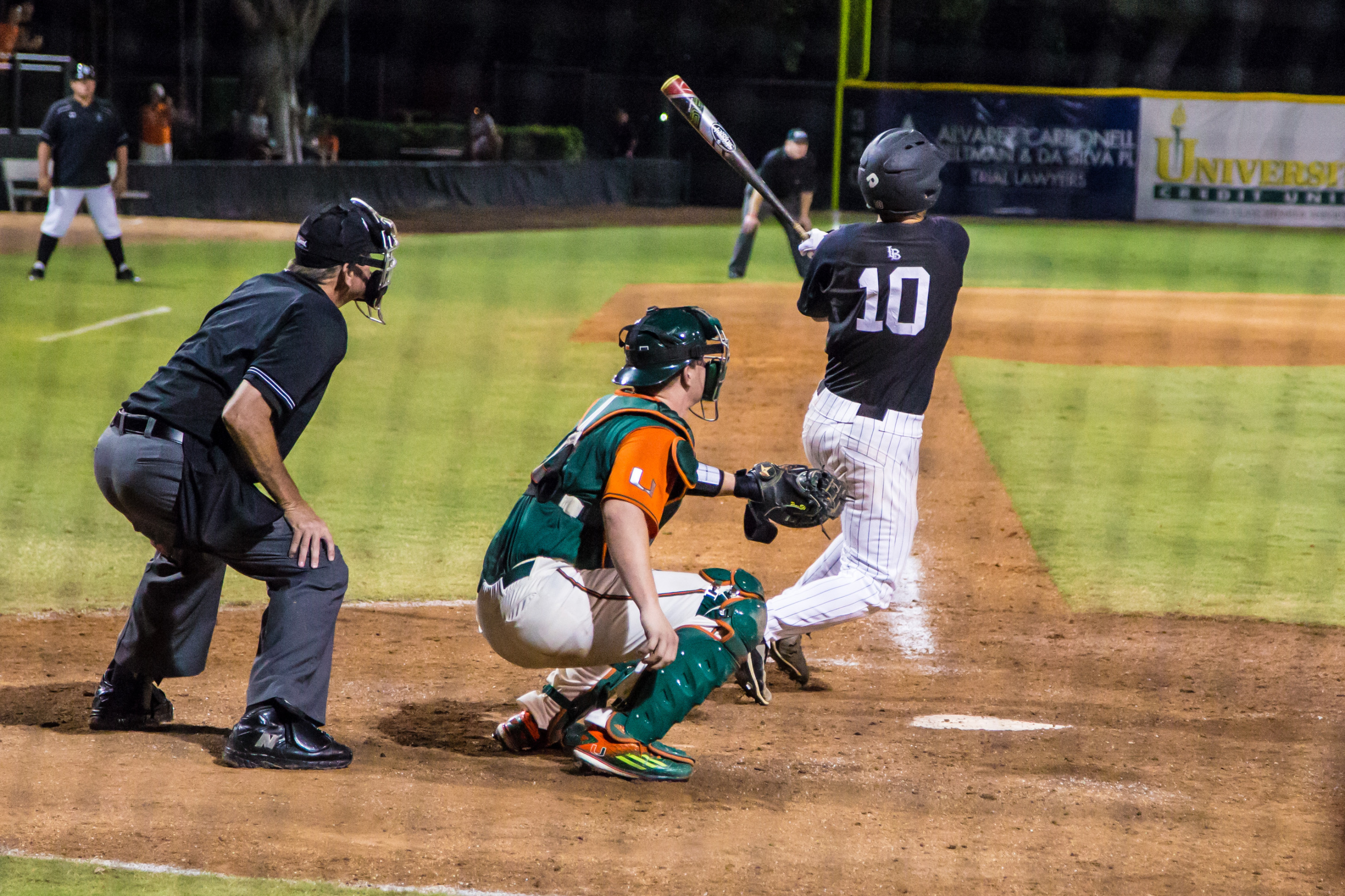 Junior Jeff Nellis hit a pinch-hit, game-tying home run with two outs in the ninth inning to keep Long Beach State's hopes alive in Saturday night's NCAA Regional matchup with Miami.