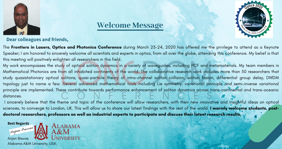 Welcome Note Banner