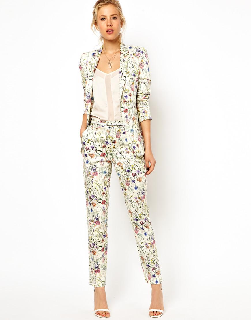 Asos Premium Pants In Floral Print, Asos